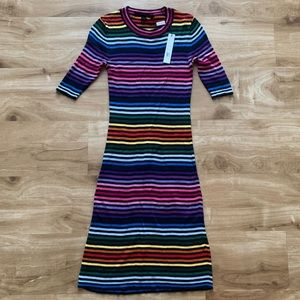 Marc Jacobs Rainbow Striped Knit Dress